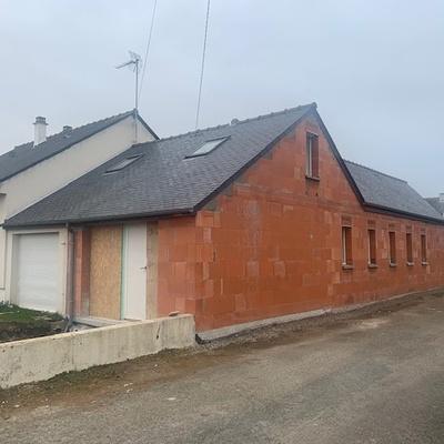 Extension maison en bio brique - Saint Briac