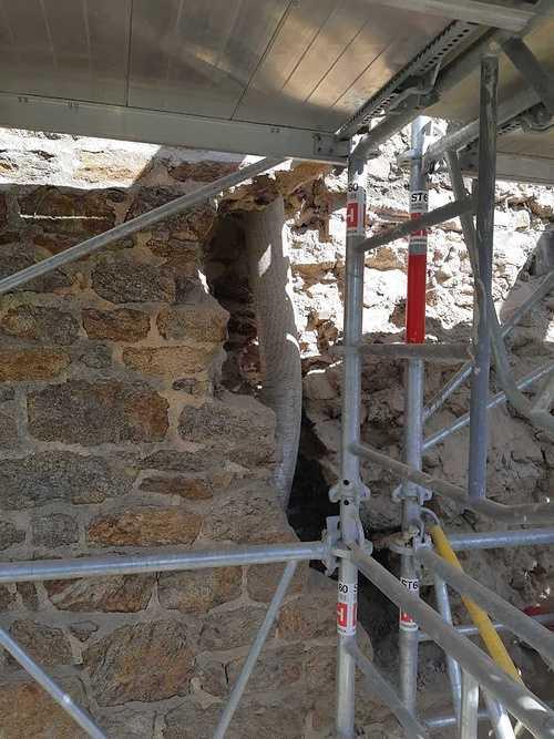 Reprise de maçonnerie suite effondrement d''un pignon pierre - Saint-Malo reprise1