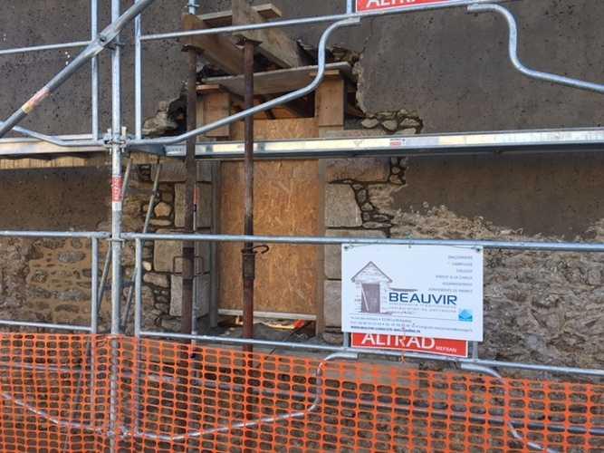 Retrouver la pierre sur la façade et jointements à la Chaux - Chantier Dinard img0915