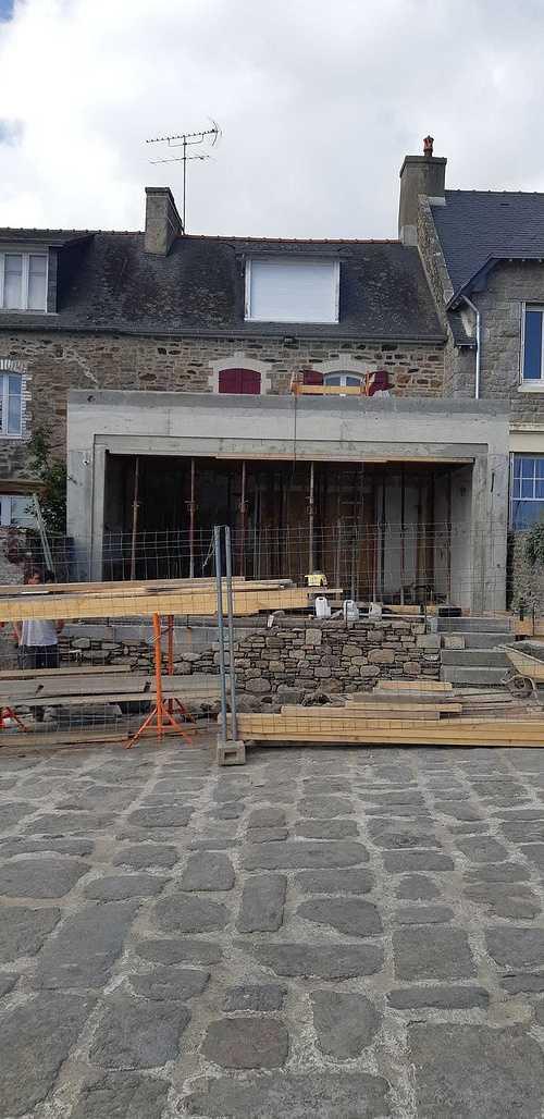 Rénovation et maçonnerie d''une maison bord de mer - Port de la Richardais photo89